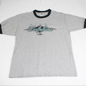 Vintage Miami Dolphins NFL Nutmeg Ringer T-shirt